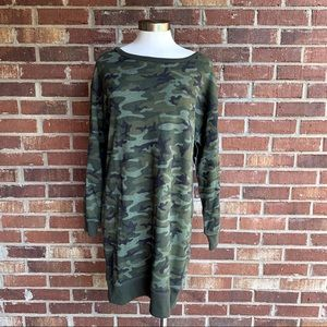 GAP Camo Long Sleeve Sweatshirt Dress